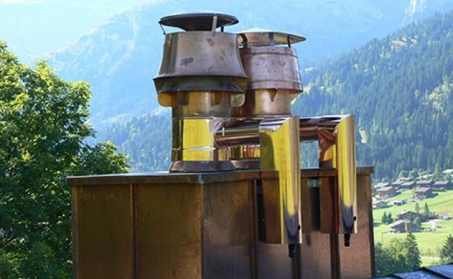 Fijnstoffilter op schouw in Zwitserland
