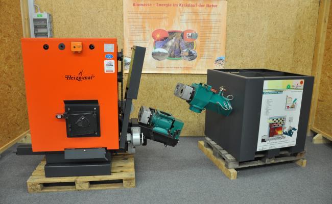 Centrale verwarmingsketel met houtchips als brandstof
